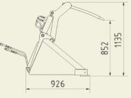 Lopata 1750 s přidržovačem
